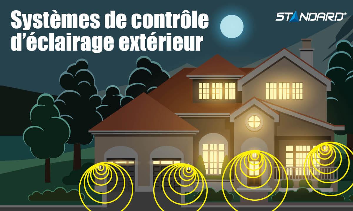 Système de contrôle d'éclaurage extérieur