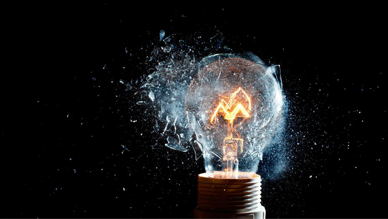 Light bulb exploding, cracking the IK code