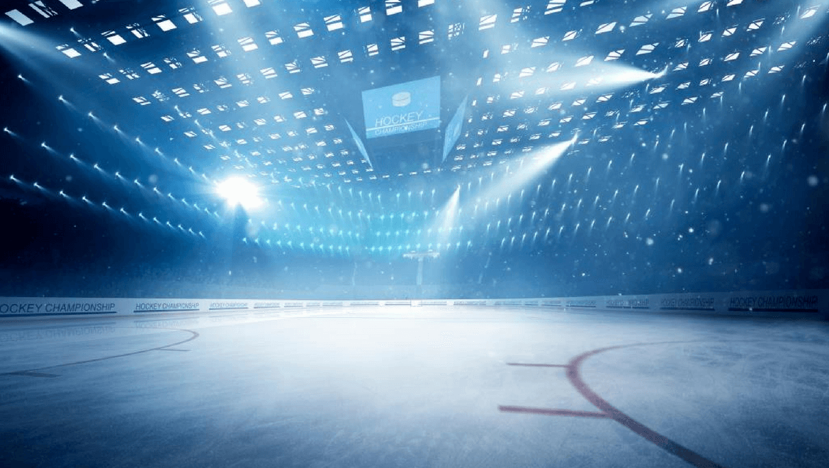 lighting conversion's cross-effect:Arena illuminated by multiple light spots