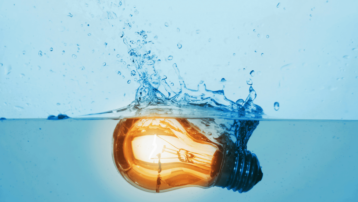 IP chart: Light bulb on falling into water