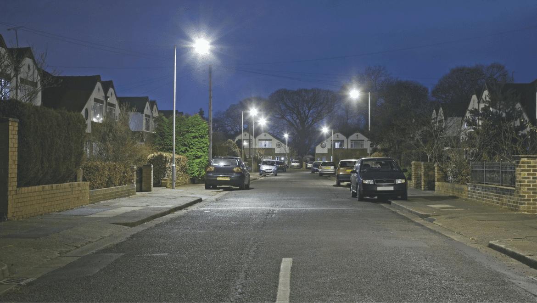 street enlighten by LED lights