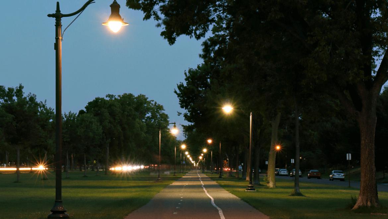 Bicycle path lighting