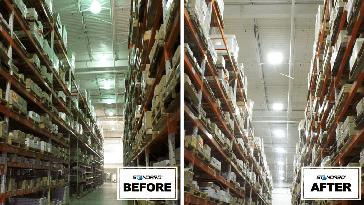 Warehouse lighting - before-a