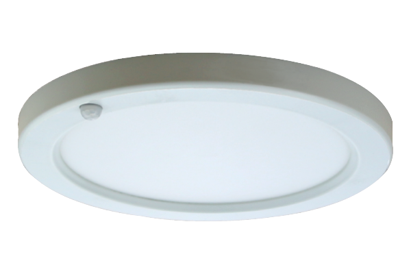 EDGE-LIT CEILING LUMINAIRE WITH MOTION SENSOR