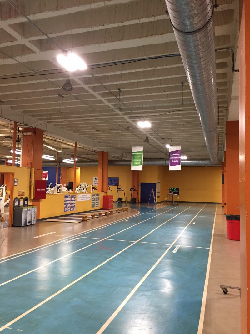 THE GYMNASIUM AT THE SHAWINIGAN CÉGEP