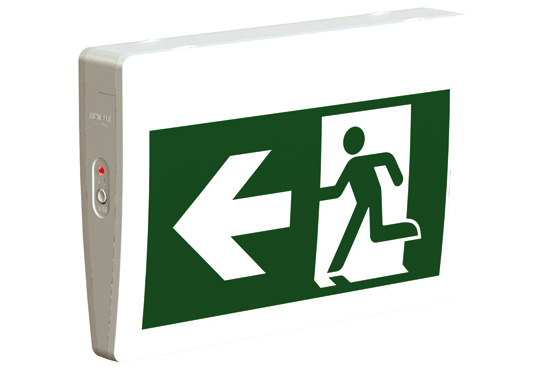 STANPRO COMMERCIAL THERMOPLASTIC EXIT SIGN INTERNAL BATTERY NEW IN BOX
